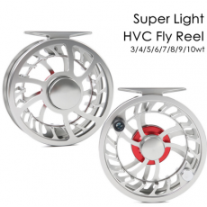 Exclusive Super Light CNC Machine Cut Large Arbor Aluminum Fly reel (1Lifetime Warranty)